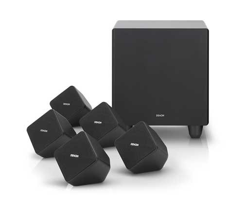 denon speaker setup