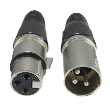 XLR CONNECTOR MALE FEMALE